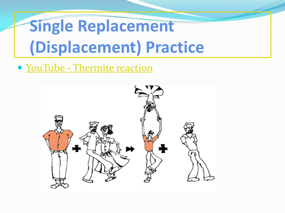 Single Replacement (Displacement) Practice YouTube - Thermite reaction