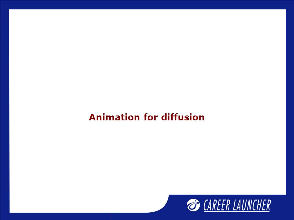 Animation for diffusion