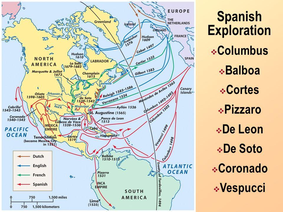 Explorers Sailing For Spain & Portugal Amerigo Vespucci - Italian sailing for both Spain and Portugal - Sailed to the Americas - Amerigo is his first