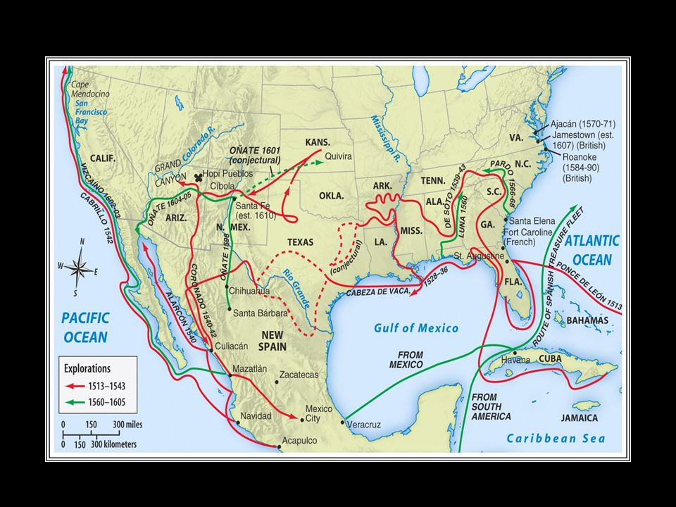 Spanish empire by the 1600s consisted of Southern part of North America Central America Caribbean Islands Most of outer South America