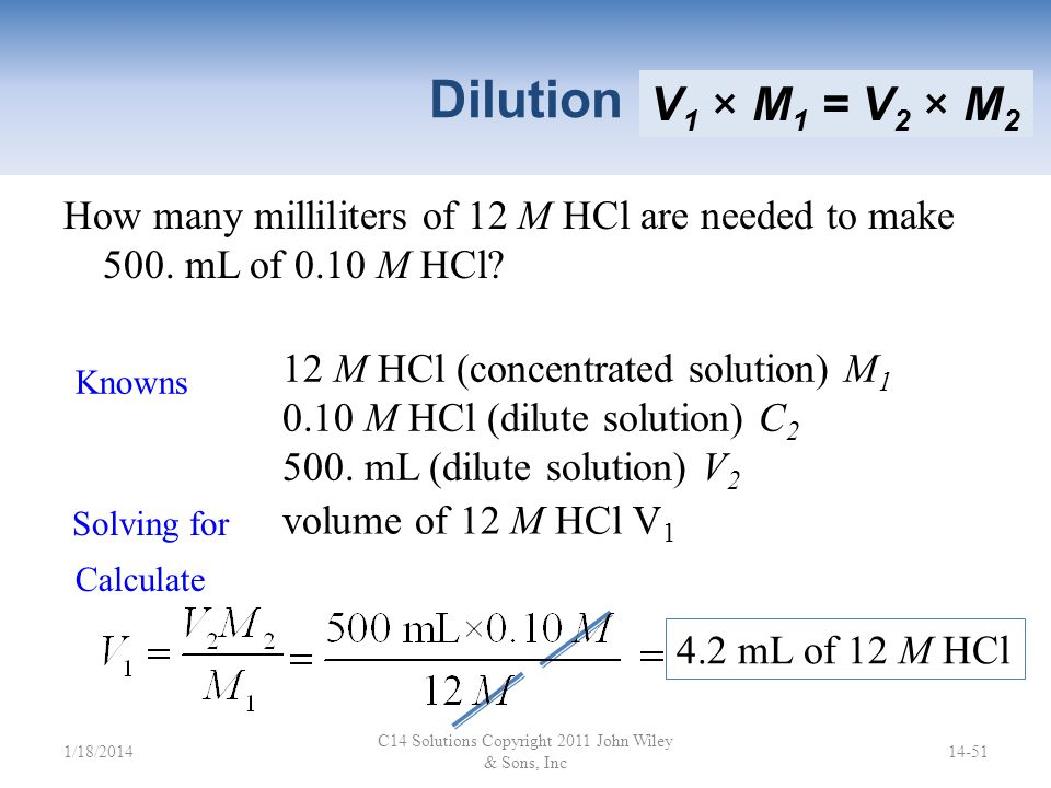 Dilution Dilution: Adding solvent to a concentrated solution to make a more dilute solution. When you dilute a concentrated solution, only the volume