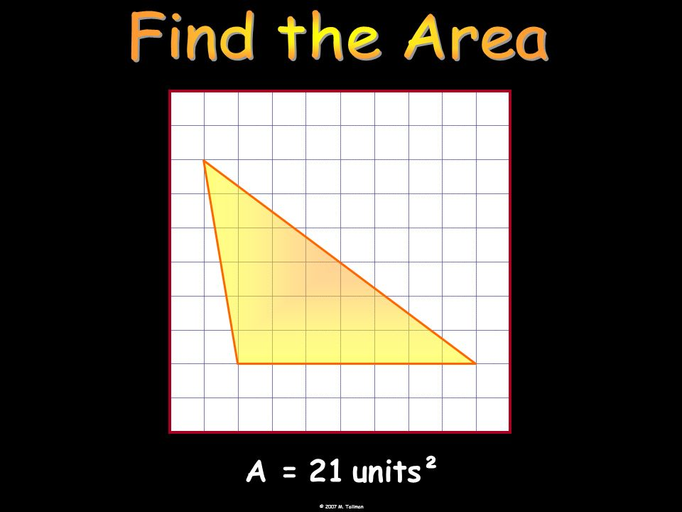 A=21units²