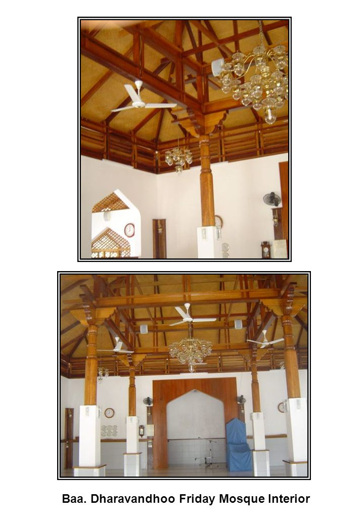Baa. Dharavandhoo Friday Mosque Interior