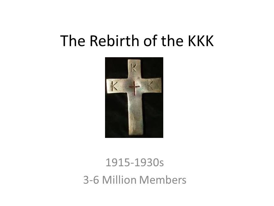 Ku Klux Klan America s oldest, most visible, and most infamous hate group White supremacy and anti-immigration Hostile towards Jews, Muslims, Immigrants to America, Asians, Homosexuals, Catholics,