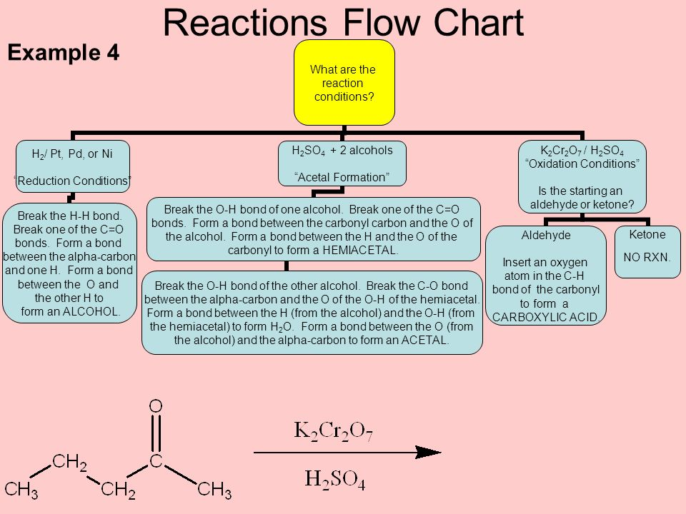 Reactions Flow Chart Example 4
