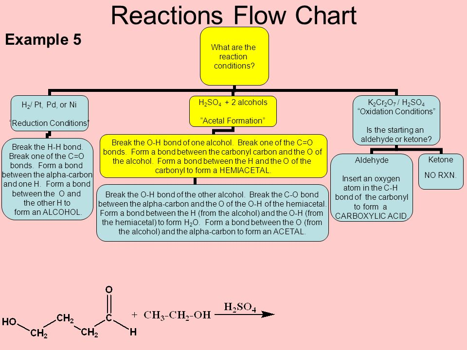 Reactions Flow Chart Example 5