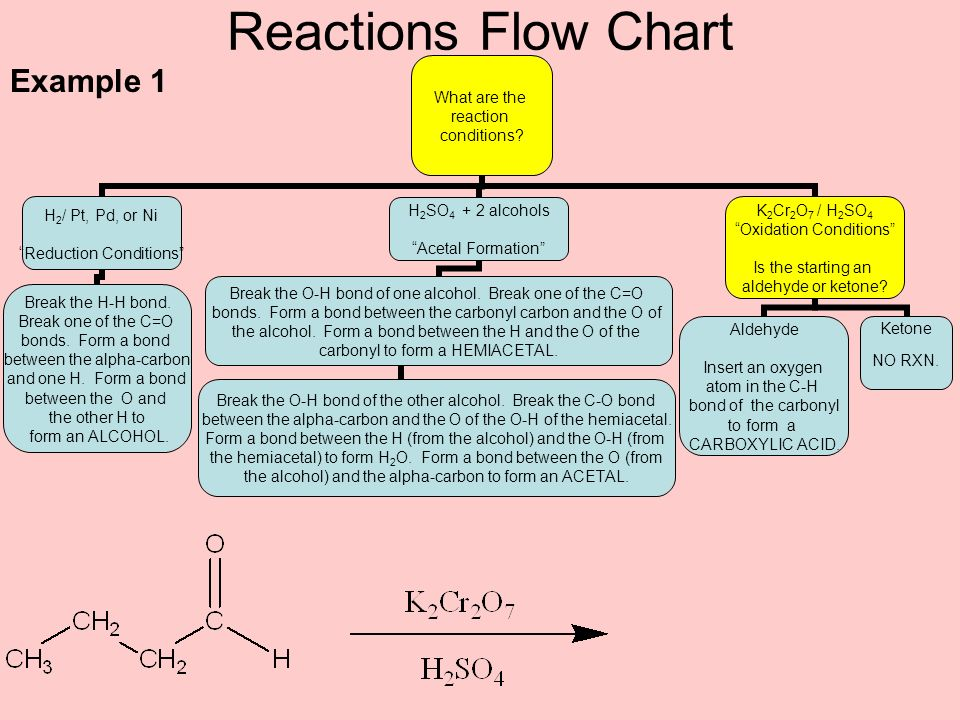 Reactions Flow Chart Example 1
