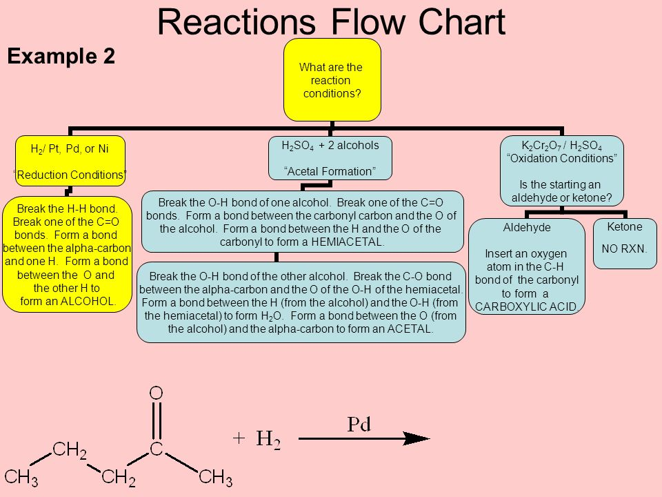 Reactions Flow Chart Example 2