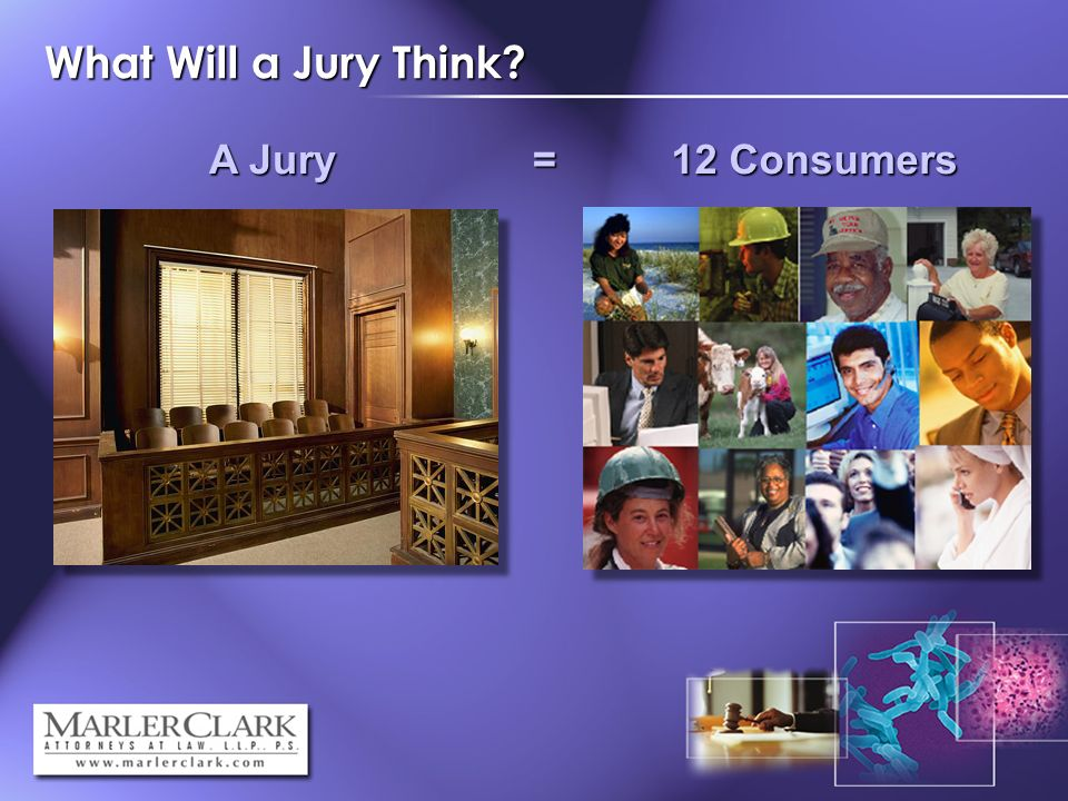 What Will a Jury Think A Jury = 12 Consumers