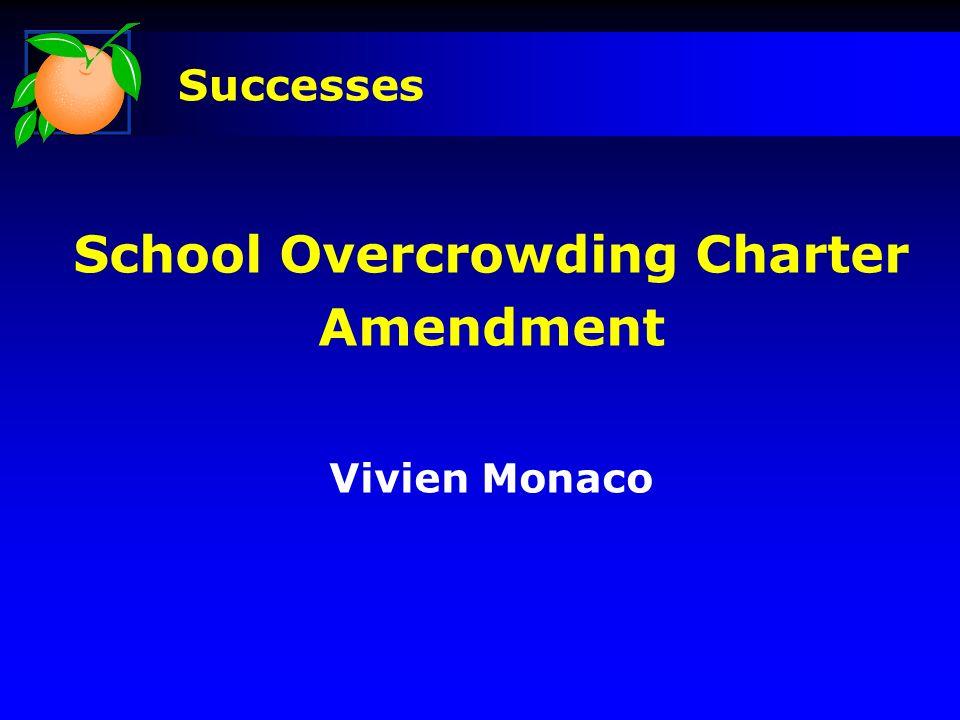 School Overcrowding Charter Amendment Vivien Monaco Successes