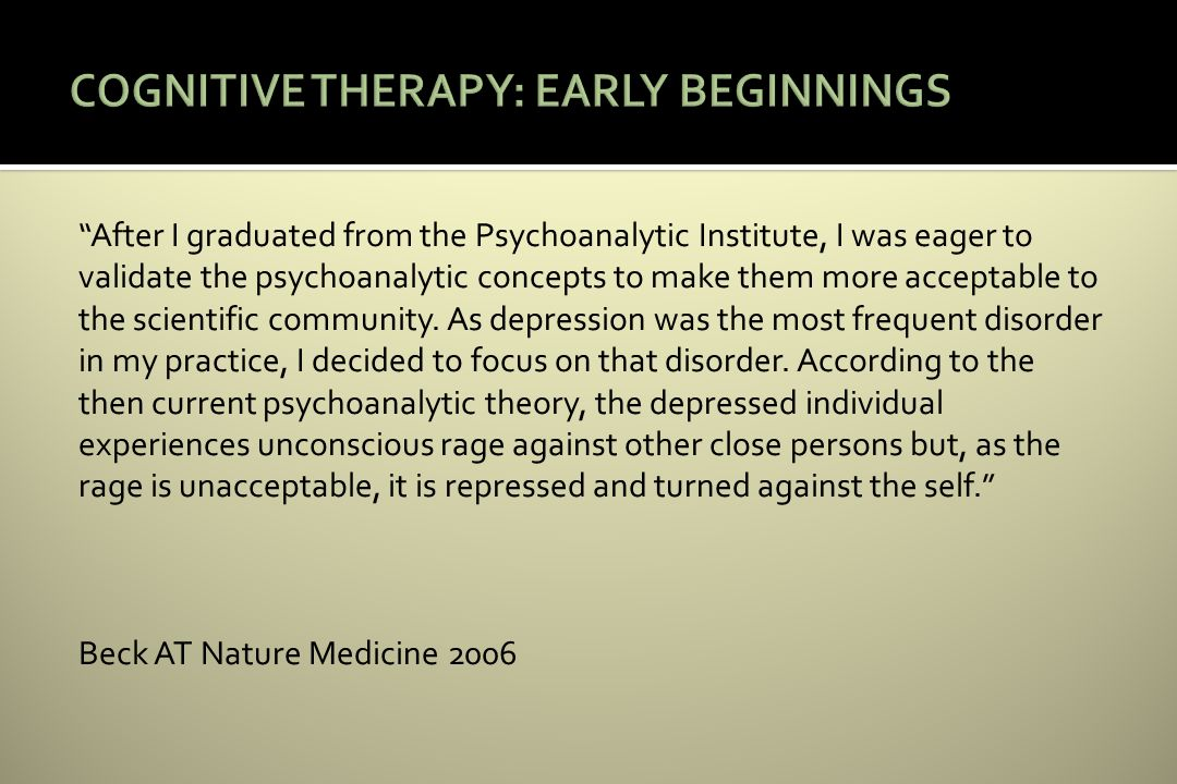 After I graduated from the Psychoanalytic Institute, I was eager to validate the psychoanalytic concepts to make them more acceptable to the scientific community.
