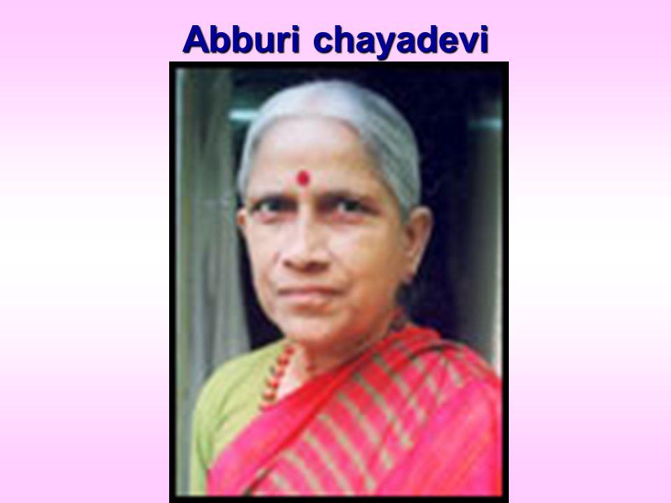 Abburi chayadevi