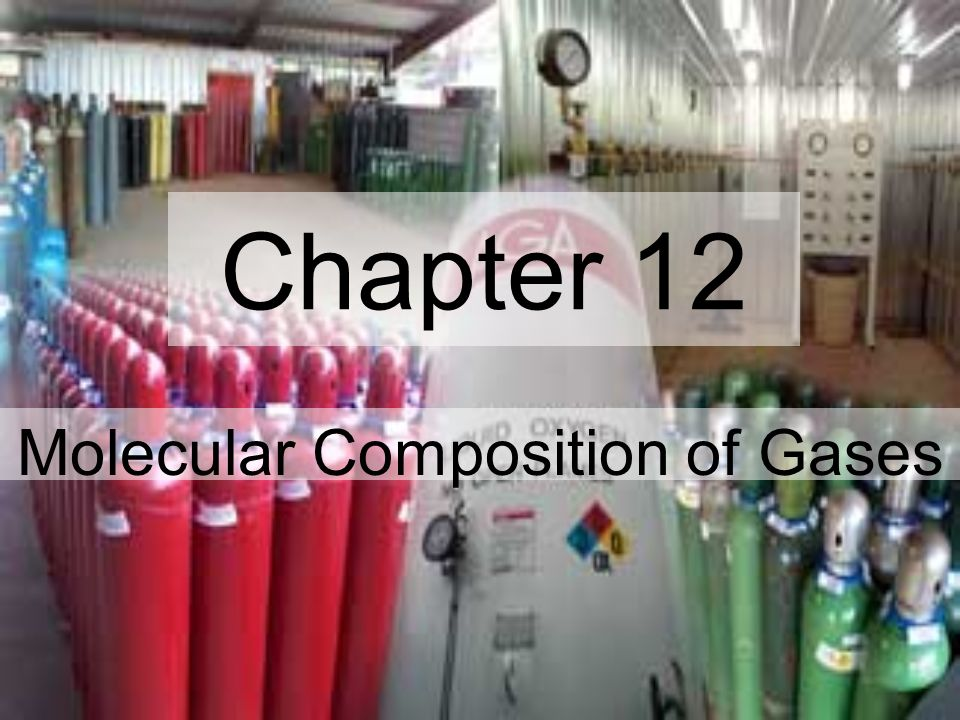 Chapter 12 Molecular Composition of Gases