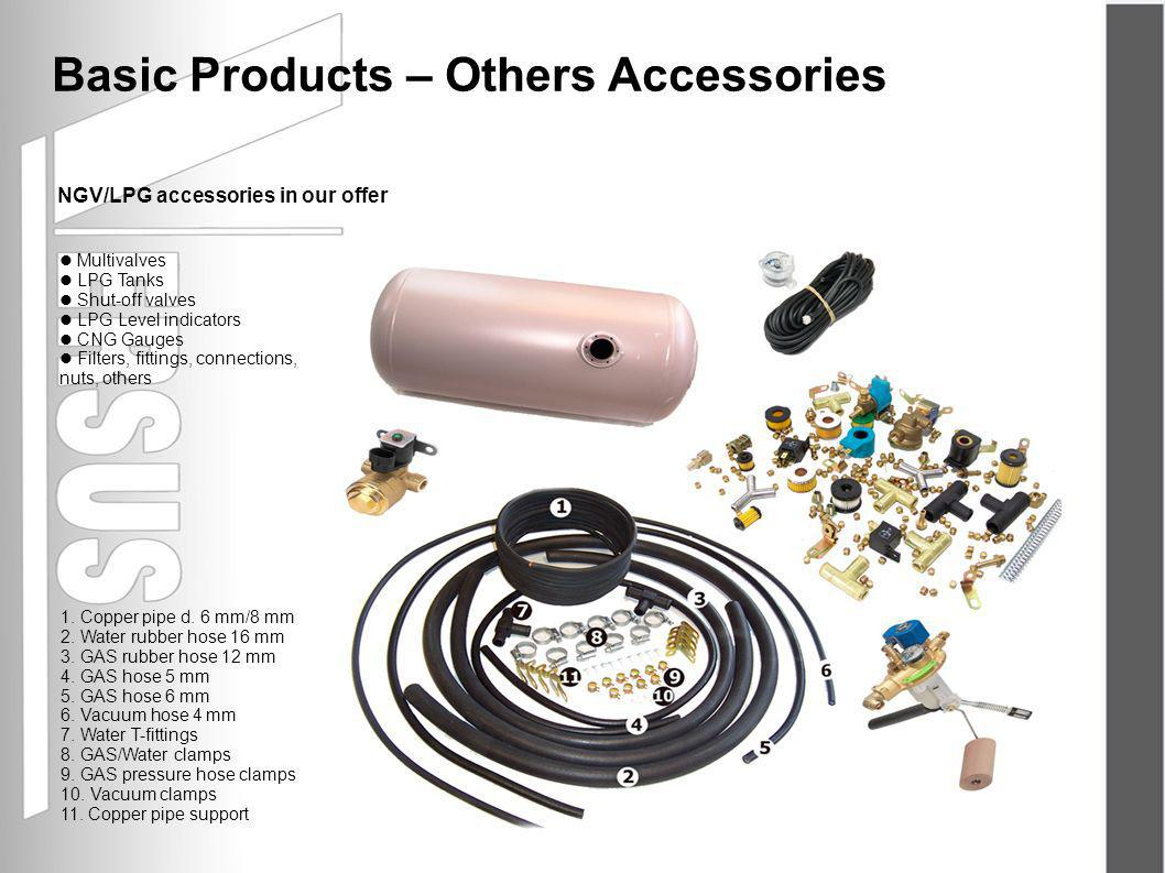 NGV/LPG accessories in our offer Basic Products – Others Accessories 1.