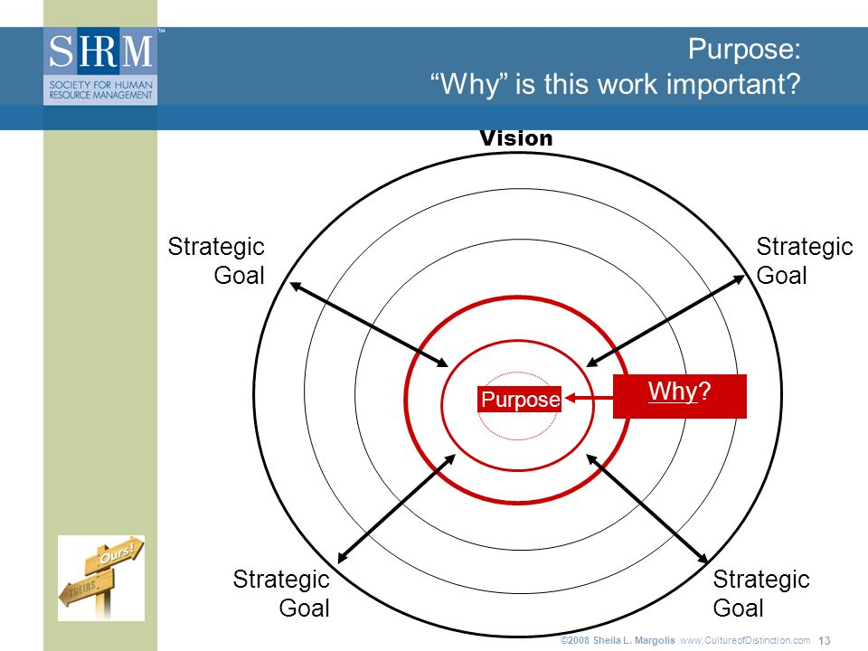 ©2008 Sheila L. Margolis www.CultureofDistinction.com 13 Purpose: Why is this work important.