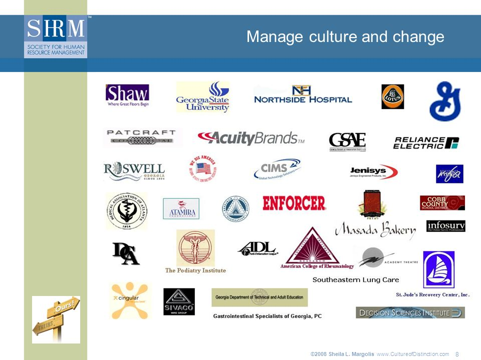©2008 Sheila L. Margolis   Manage culture and change 8