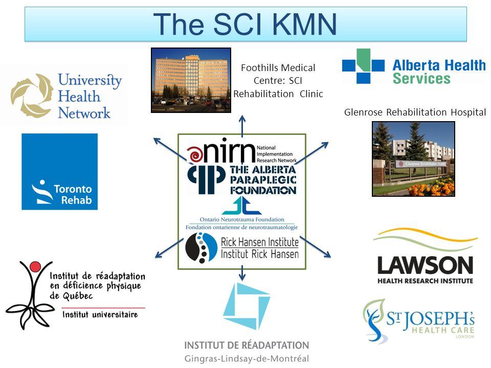 Foothills Medical Centre: SCI Rehabilitation Clinic Glenrose Rehabilitation Hospital The SCI KMN