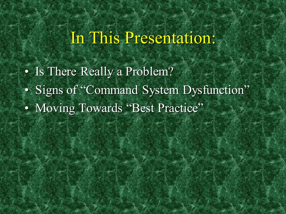 In This Presentation: Is There Really a Problem Is There Really a Problem.