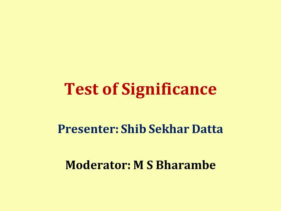 Framework of presentation Introduction to test of significance A B C D E F G I J K L References