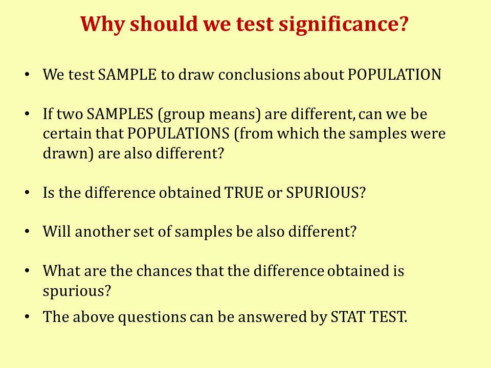 Tests of Significance Hypotheses –In a test of significance, we set up two hypotheses.