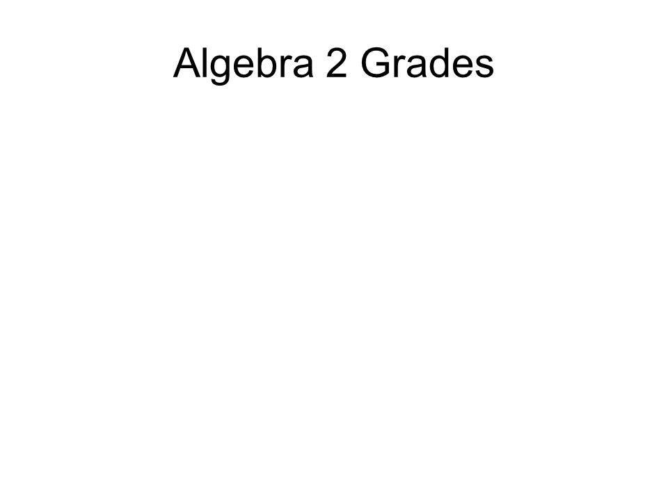 Algebra 2 Grades