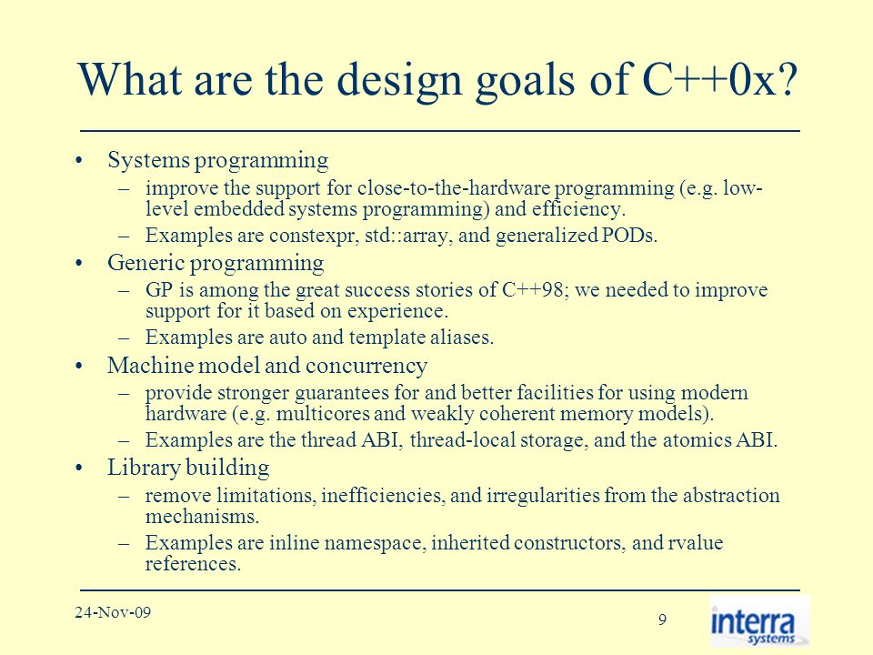 90 24-Nov-09 References 1.ISO/IEC JTC1/SC22/WG21 - The C++ Standards Committee.