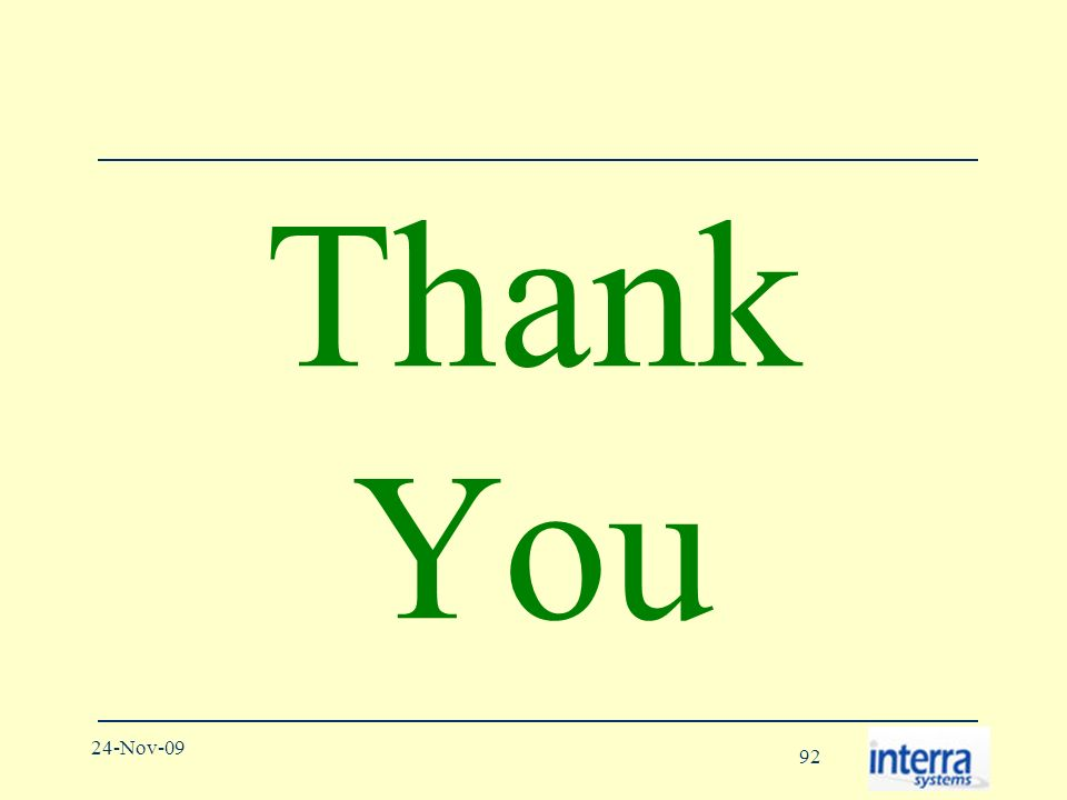 92 24-Nov-09 Thank You