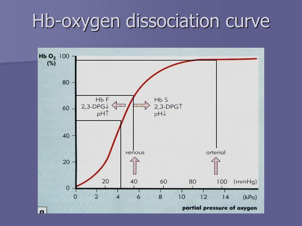 Hb-oxygen dissociation curve
