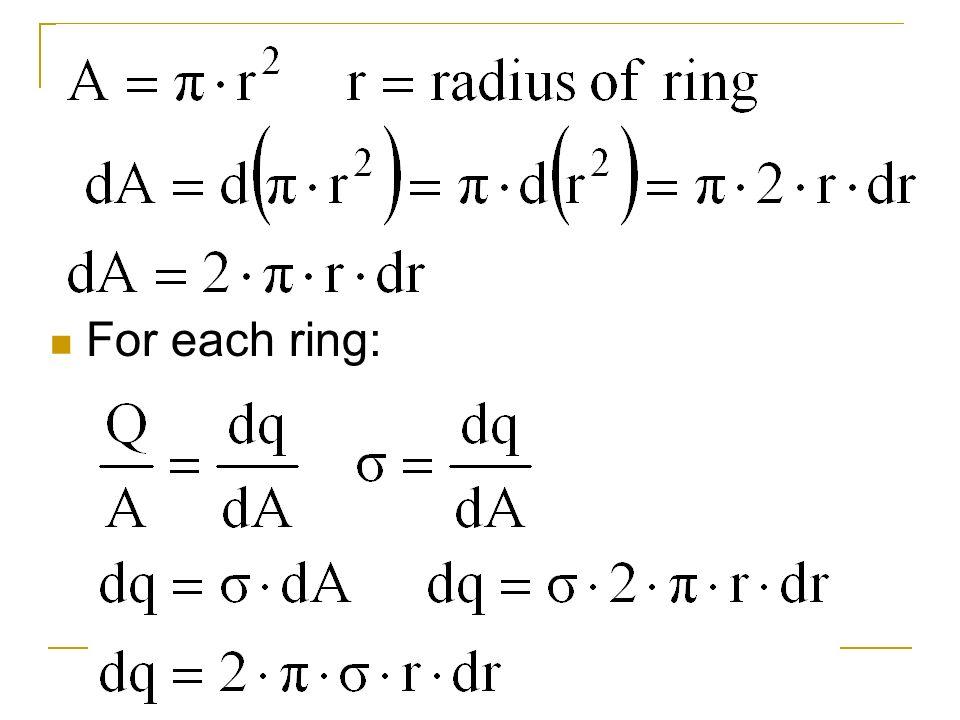 For each ring: