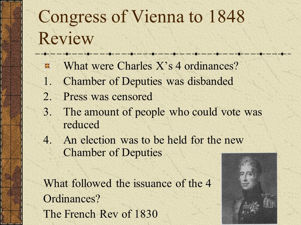 Congress of Vienna to 1848 Review Who was Louis Blanc, what did he want and was he successful.