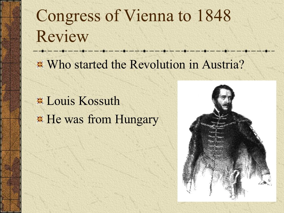 Congress of Vienna to 1848 Review Who was Lamartine.