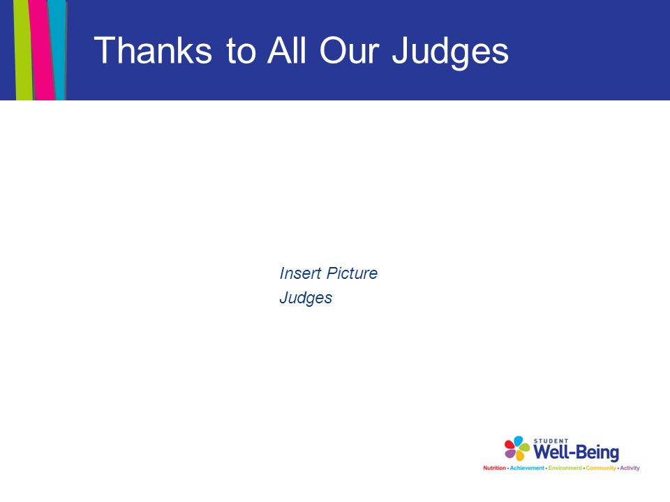 Thanks to All Our Judges Insert Picture Judges