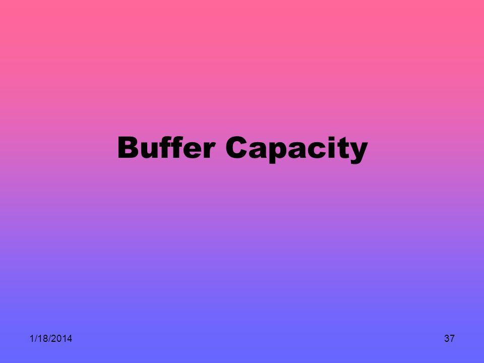 1/18/201437 Buffer Capacity