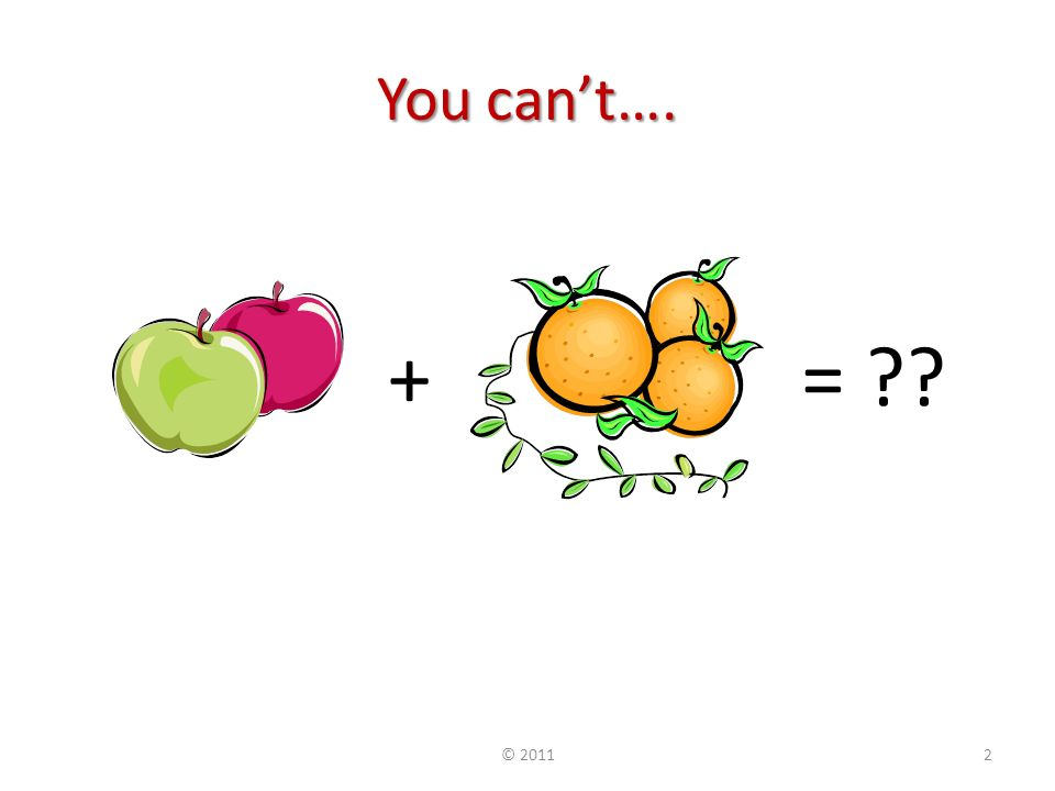 You cant…. += © 20112