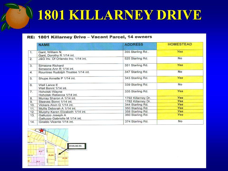 1801 KILLARNEY DRIVE