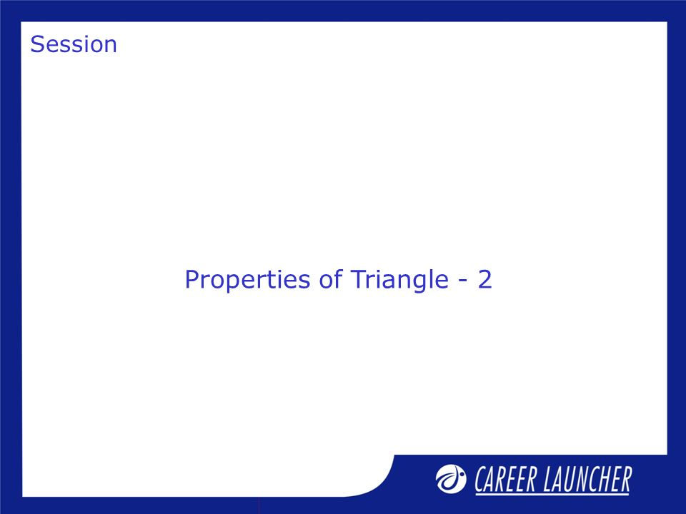 Solution a, b, c are the sides of the triangle, a > 0, b > 0, c > 0