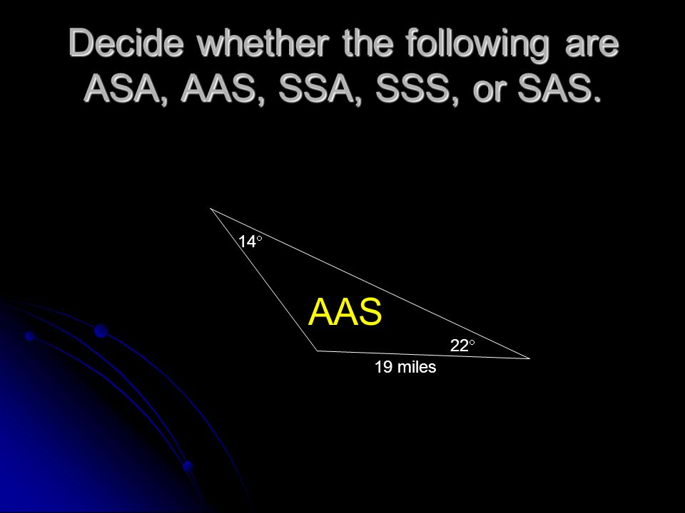 Using SAS To find Area!! One more thing….