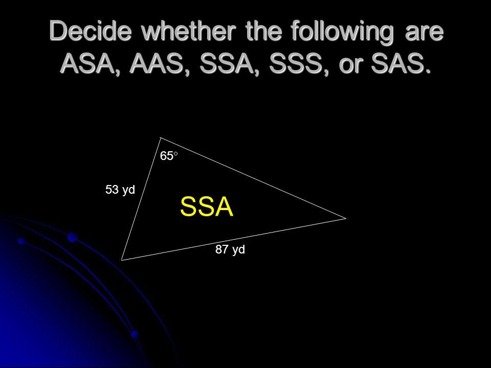 Find the area of the triangle: C = 84 30, a = 16, and b = 20 C A B 84 30 16 20 Area = 1/2(side)(side) Sin <