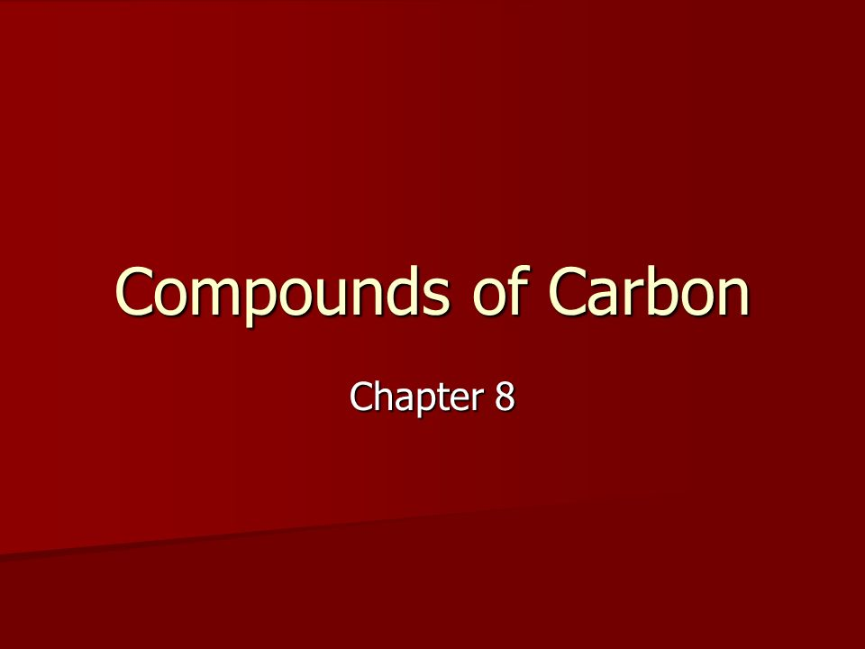 Alkanes The alkane series contains only single bonds.
