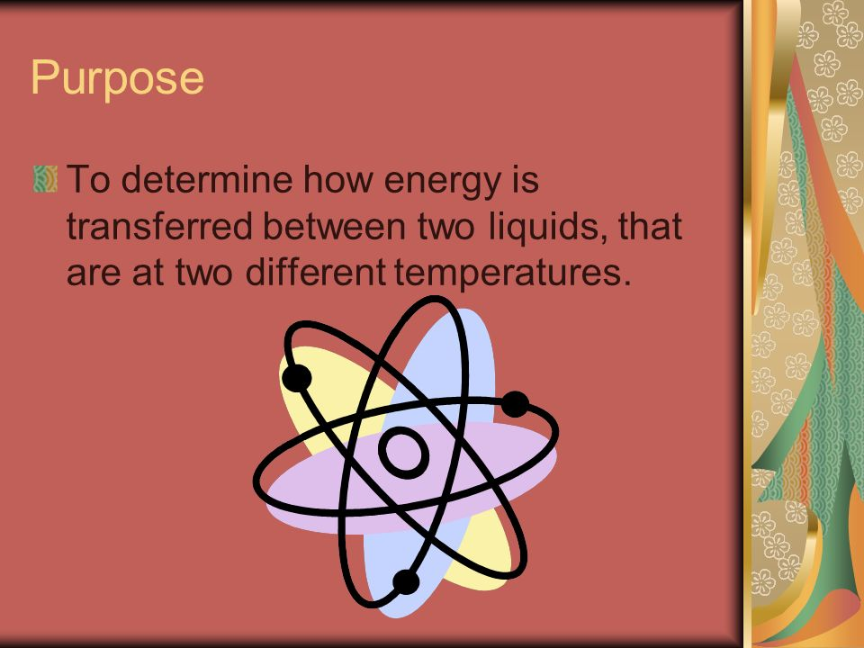 Energy Transfer of Two Liquids.