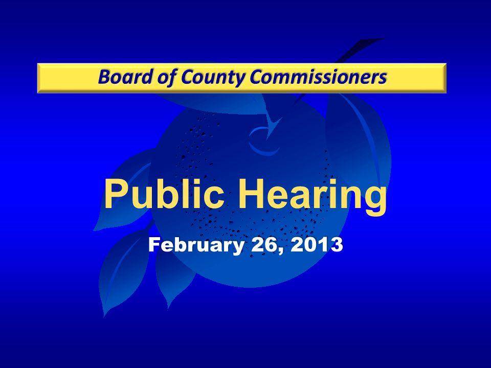 Public Hearing February 26, 2013