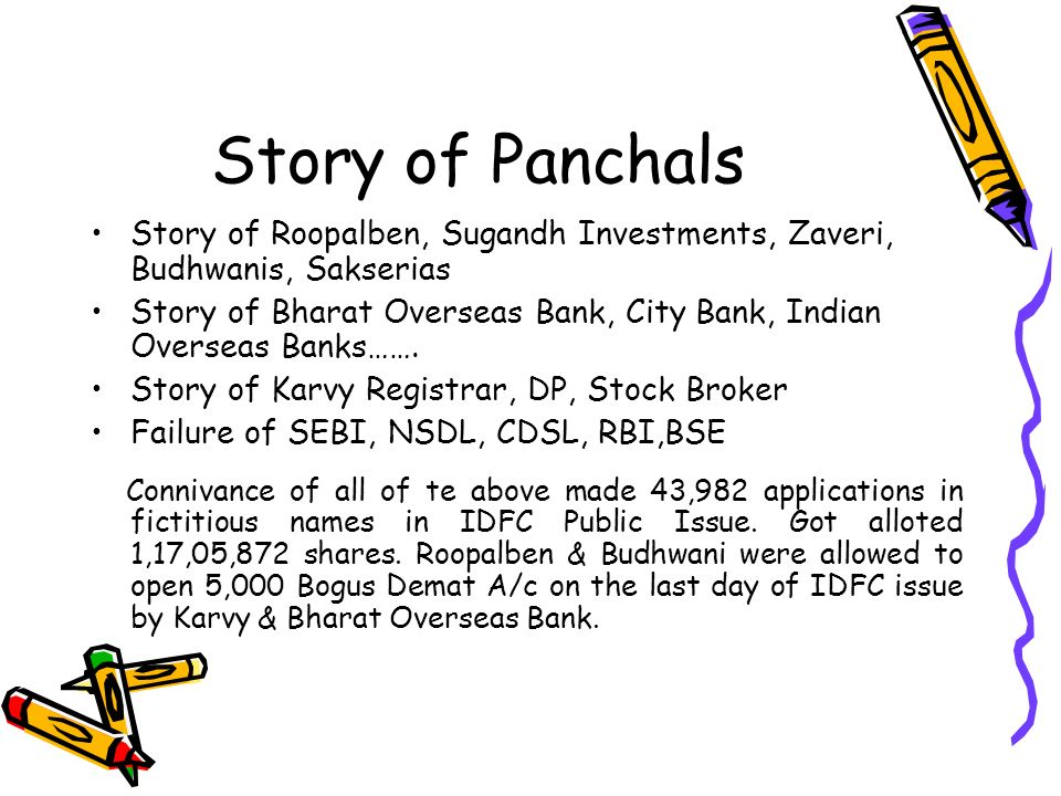Story of Panchals Story of Roopalben, Sugandh Investments, Zaveri, Budhwanis, Sakserias Story of Bharat Overseas Bank, City Bank, Indian Overseas Bank
