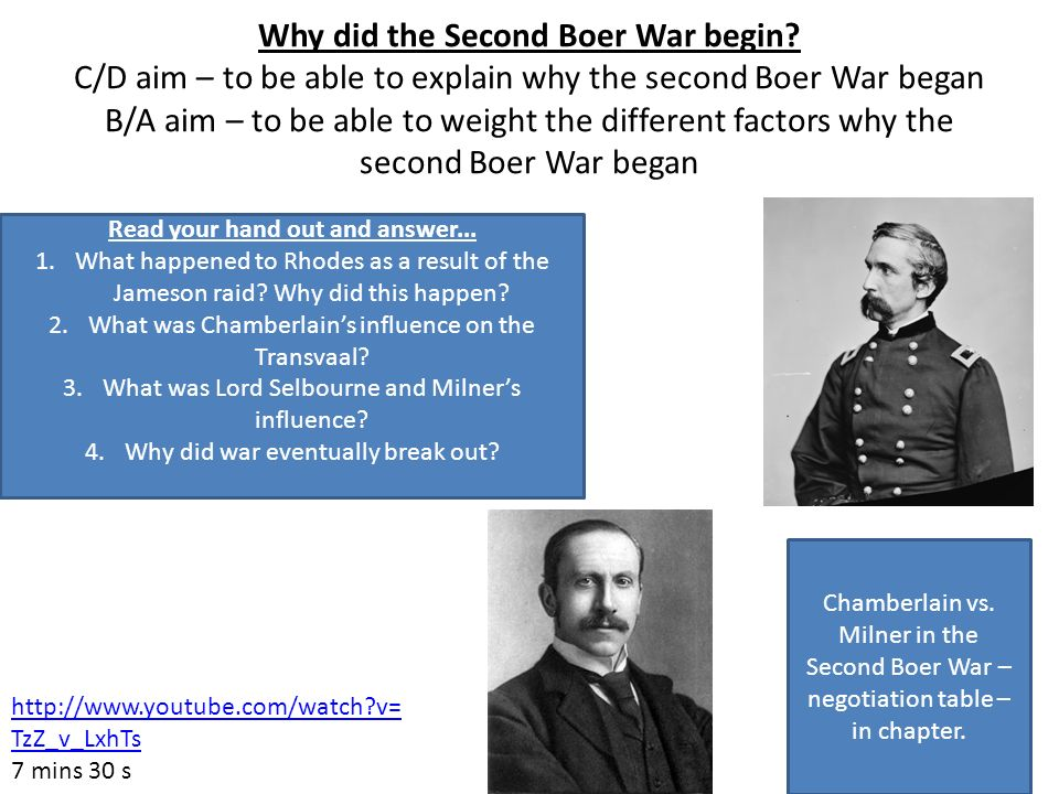 Why did the Second Boer War begin.