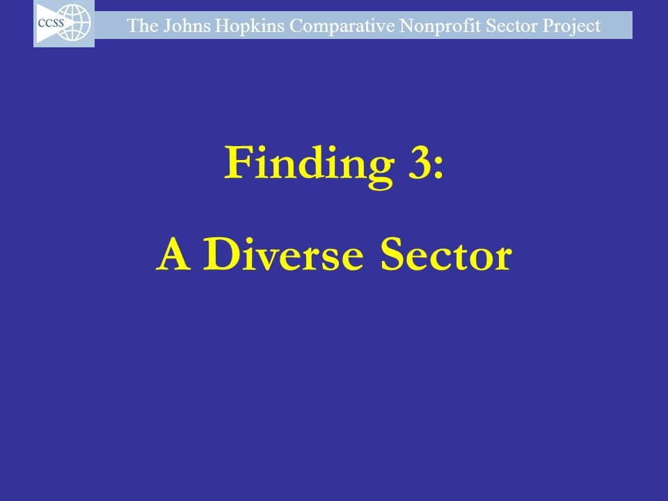 The Johns Hopkins Comparative Nonprofit Sector Project Finding 3: A Diverse Sector