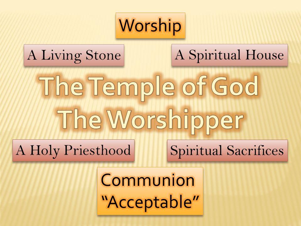 A Living Stone A Spiritual House A Holy Priesthood Spiritual Sacrifices