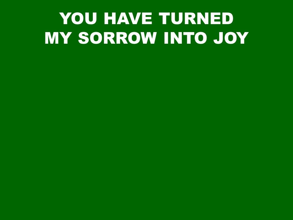 YOU HAVE TURNED MY SORROW INTO JOY