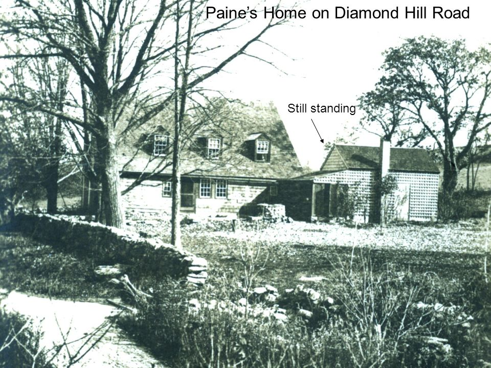 Paines Home on Diamond Hill Road Still standing