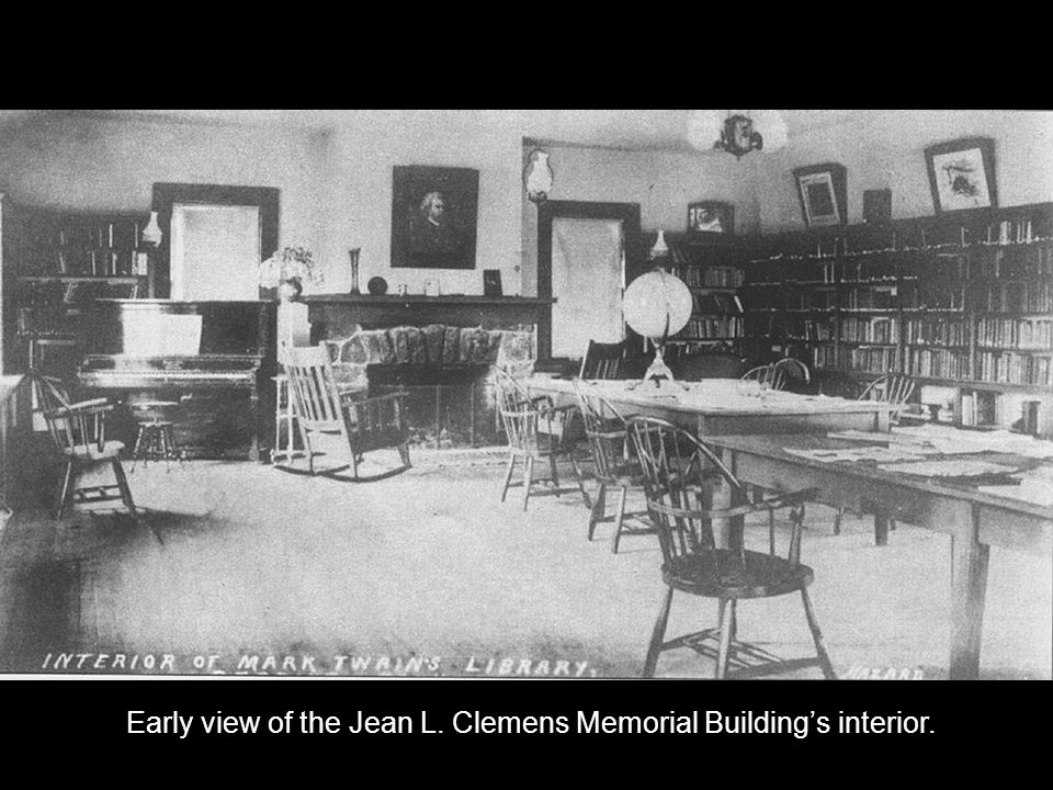 Early view of the Jean L. Clemens Memorial Buildings interior.