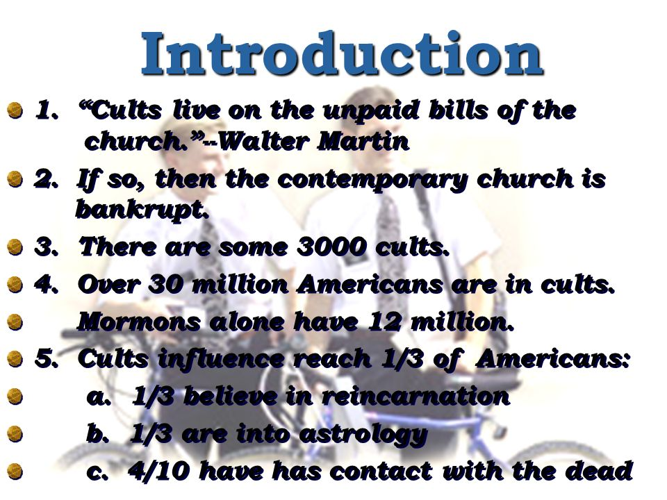 I.The Rise of the Cults A. Defining a Cult B. Explaining the rise of Cults 1.