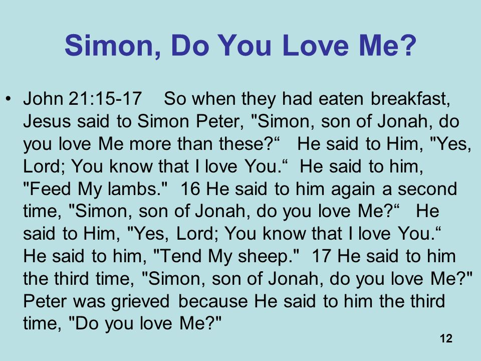 12 Simon, Do You Love Me.